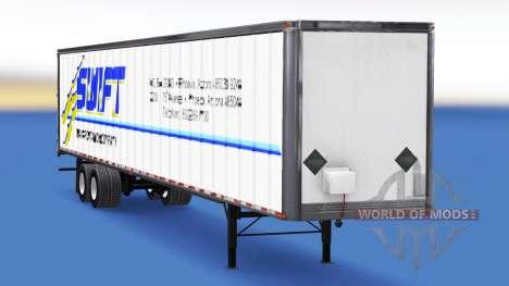 All-metal semitrailer Swift for American Truck Simulator