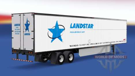 Skin LandStar on the trailer for American Truck Simulator
