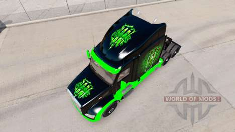 Monster Energy skin for the truck Peterbilt for American Truck Simulator