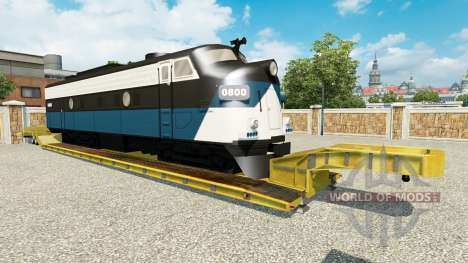 Low sweep with a locomotive for Euro Truck Simulator 2