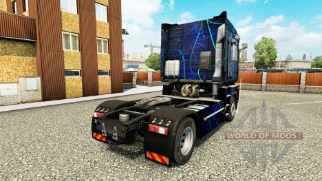 Skin Blue Smoke on tractor Renault for Euro Truck Simulator 2