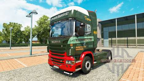 Edwards Transport skin for Scania truck for Euro Truck Simulator 2