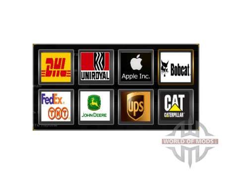 Logos of actual companies for American Truck Simulator