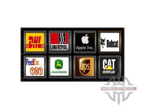 Logos of actual companies for American Truck Simulator