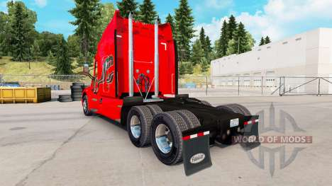 Skin Carbon Insertions on the tractor Peterbilt for American Truck Simulator