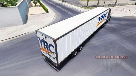 All-metal semi-YRC Freight for American Truck Simulator