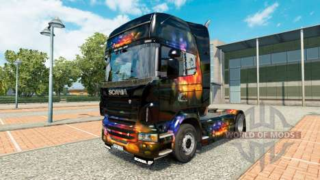 Skin Color on Wall tractor Scania for Euro Truck Simulator 2
