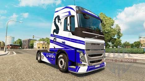 Griffin skin for Volvo truck for Euro Truck Simulator 2
