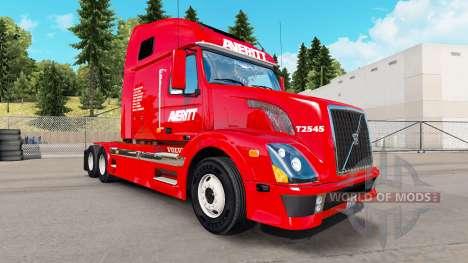 Skin Averitt Express tractor Volvo VNL 670 for American Truck Simulator