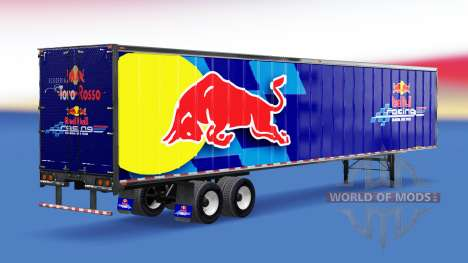 All-metal semi-RedBull for American Truck Simulator