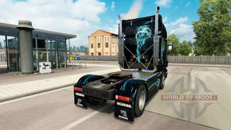 Skin, Turquoise Smoke for Scania truck for Euro Truck Simulator 2