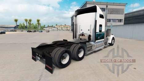 Skin Custom New Blue truck Kenworth W900 for American Truck Simulator