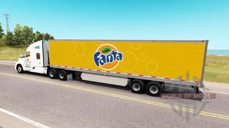 Fanta skin for Kenworth tractor for American Truck Simulator
