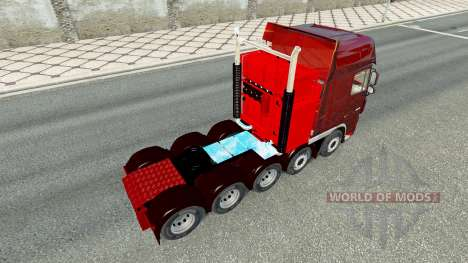 Additional chassis for tractor DAF XF for Euro Truck Simulator 2