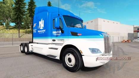 Skin Hendrick Nationwide for truck Peterbilt for American Truck Simulator