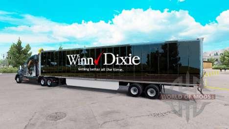 Skin Winn Dixie on the trailer for American Truck Simulator