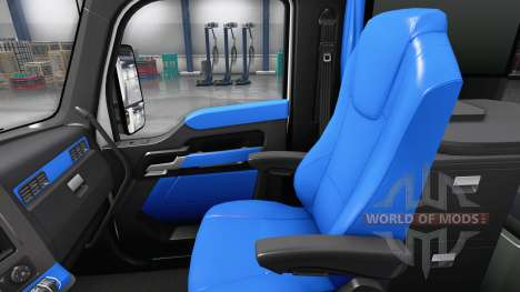 Blue Kenworth T680 interior for American Truck Simulator