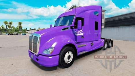 Skin Twitch on a Kenworth tractor for American Truck Simulator