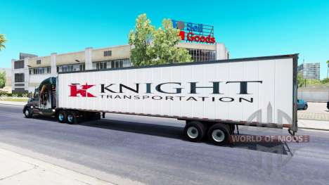 All-metal semitrailer Knight for American Truck Simulator