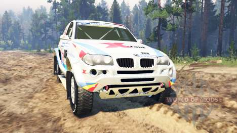 BMW X3 Rally for Spin Tires