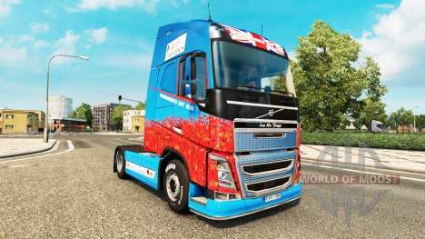 The Help For Heroes skin for Volvo truck for Euro Truck Simulator 2