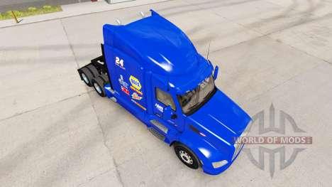 NAPA Hendrick skin for the truck Peterbilt for American Truck Simulator