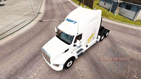 Swift skin for the truck Peterbilt for American Truck Simulator