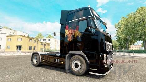 Croatian Flag skin for Volvo truck for Euro Truck Simulator 2