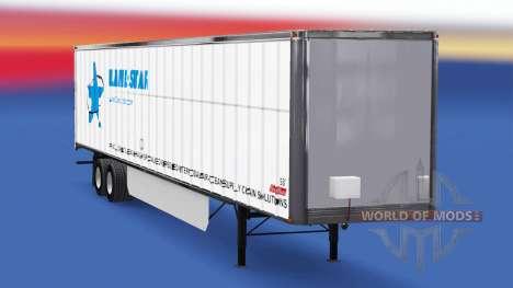Skin LandStar on the trailer for American Truck Simulator