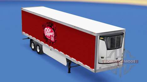Skin Dr Pepper on the trailer for American Truck Simulator