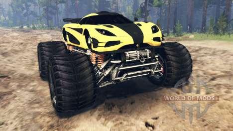 Koenigsegg One:1 Monster v2.0 for Spin Tires