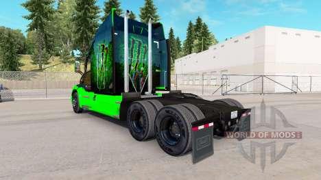 Monster Energy skin for the truck Peterbilt for American Truck Simulator