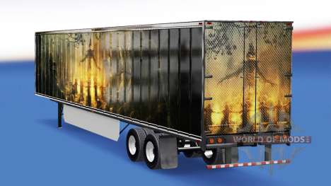The skin of the Pumpkin on the trailer for American Truck Simulator