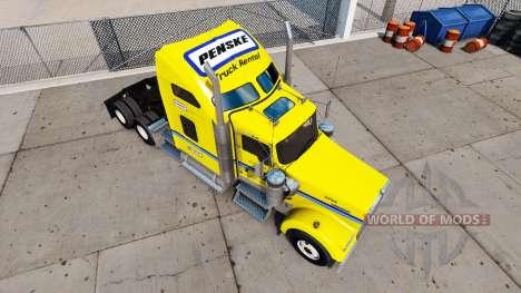 Skin on Penske truck Kenworth W900 for American Truck Simulator