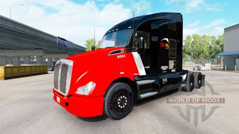 Skin CN Transportation on tractors and Pet Ken for American Truck Simulator