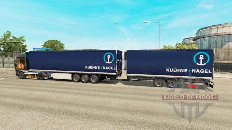 Semi-Trailers Krone Gigaliner [Kuehne Nagel] for Euro Truck Simulator 2