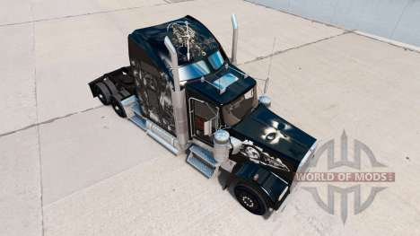 The skin on the Skull truck Kenworth W900 for American Truck Simulator