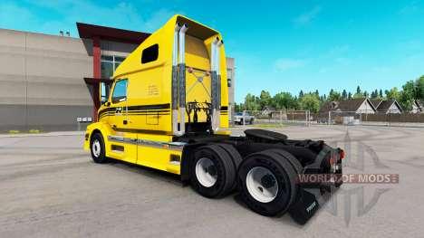 Robert Transport skin for Volvo truck VNL 670 for American Truck Simulator