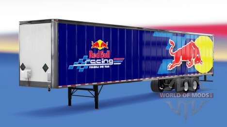 All-metal semi-RedBull for American Truck Simulator