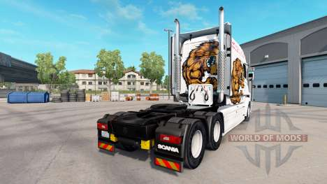 Bear skin for truck Scania T for American Truck Simulator