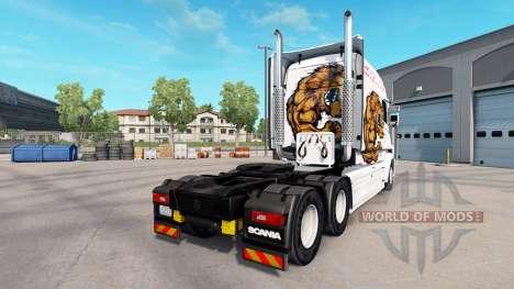 Bear skin for truck Scania T for American Truck Simulator