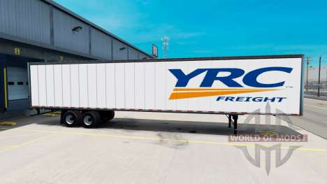 All-metal semi-YRC Freight for American Truck Simulator