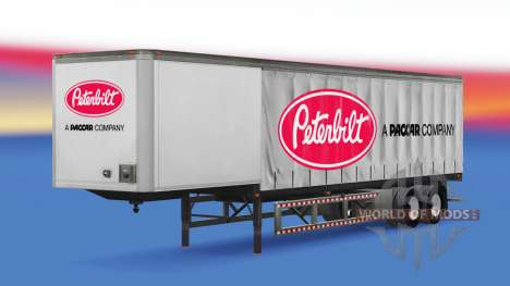 Curtain semi trailer Peterbilt for American Truck Simulator