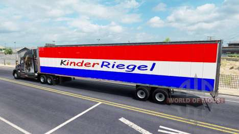 Skin Kinder Riegel on the trailer for American Truck Simulator