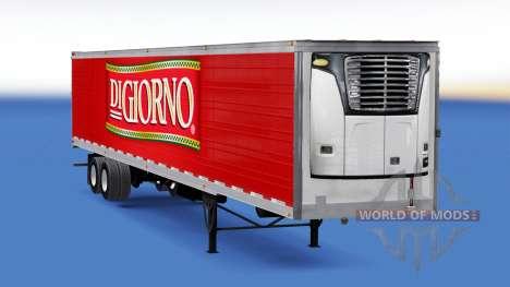 Refrigerated semi-trailer DiGiorno for American Truck Simulator
