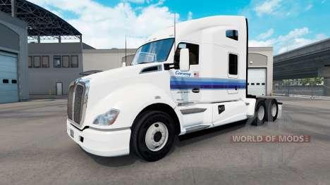 Skin Con-Way for tractors and Peterbilt Kenwort for American Truck Simulator