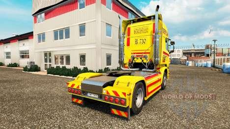 CAT skin for truck Scania for Euro Truck Simulator 2