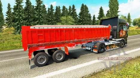 Semi-trailer dump truck for Euro Truck Simulator 2