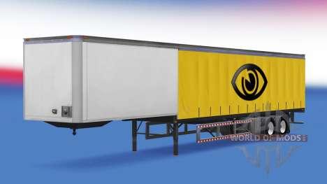 30 tonne curtain trailer for American Truck Simulator