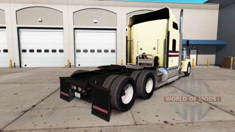 Skin Cream on the truck Kenworth W900 for American Truck Simulator